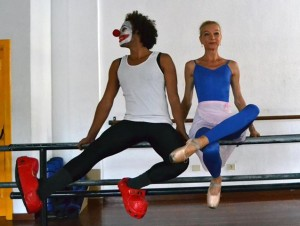 me and Pedro on the ballet barre